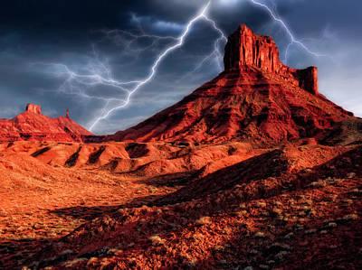 Desert Thunder Storm Art Print