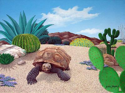 Sand Dunes Painting - Desert Tortoise by Snake Jagger