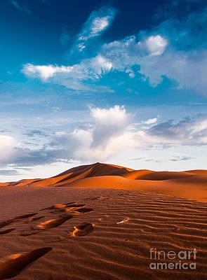 Moroccan Photograph - Desert Tracks by Yuri Santin