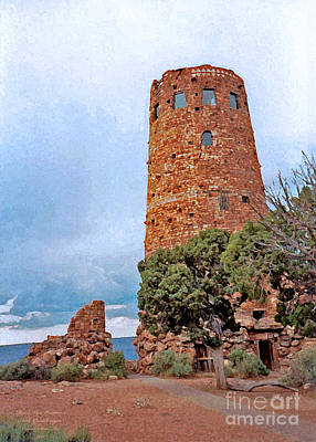 Photograph - Desert View Watchtower 1993 by Connie Fox