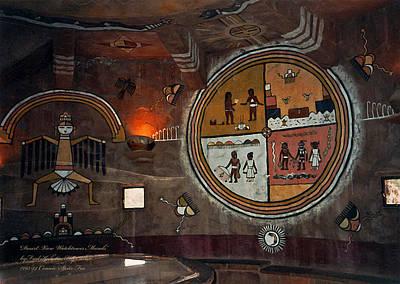 Photograph - Desert View Watchtower Murals 1993 by Connie Fox