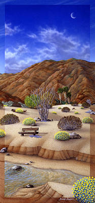 Sand Dunes Painting - Desert Vista #3 by Snake Jagger