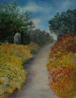 Pastel - Desert Walk by Lorraine McFarland