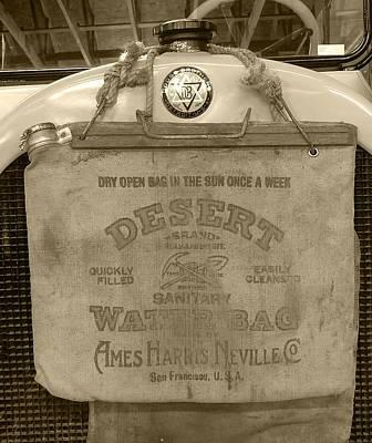 Photograph - Desert Water Bag Vintage by Ken Smith