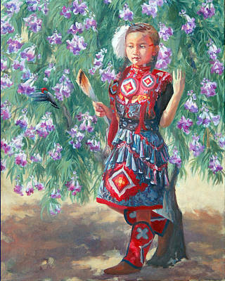 Painting - Desert Willow by Christine Lytwynczuk