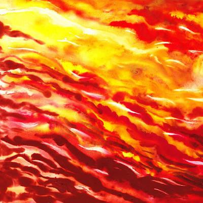 Desert Wind Abstract I Art Print by Irina Sztukowski