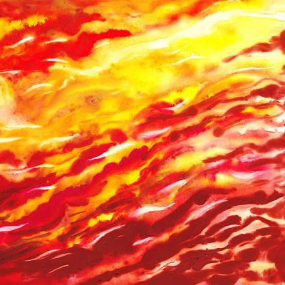 Desert Wind Abstract II Print by Irina Sztukowski