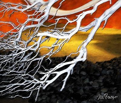 Jennifer Page Mixed Media - Desert Winds by Jennifer Page