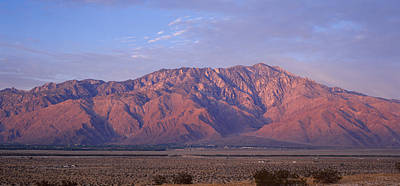 San Jacinto Photograph - Desert With A Mountain Range by Panoramic Images
