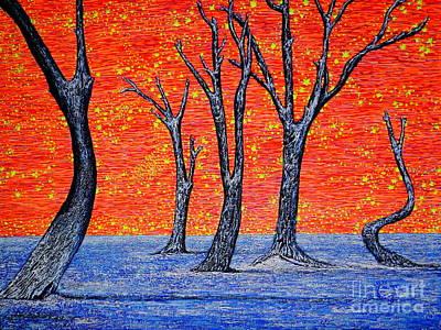 Geographic Painting - Desert Wood by Viktor Lazarev