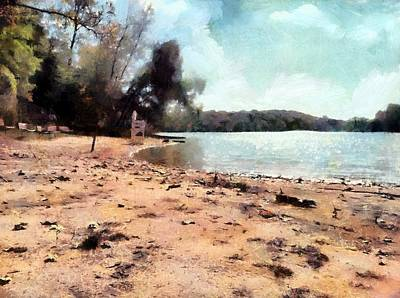 Painting - Deserted Beach by Derek Gedney