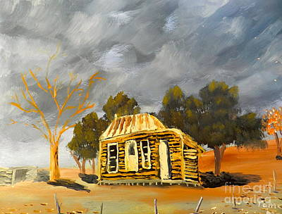 Deserted Castlemain Farmhouse Original by Pamela  Meredith