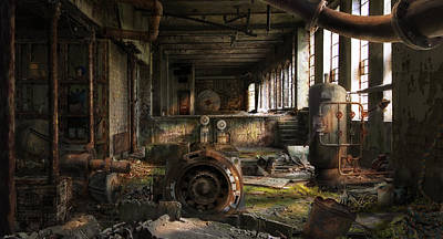 Digital Art - Deserted Factory by Virginia Palomeque
