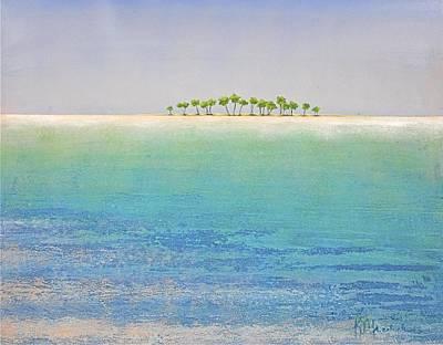 Viridian Painting - Deserted Island by Kaata    Mrachek