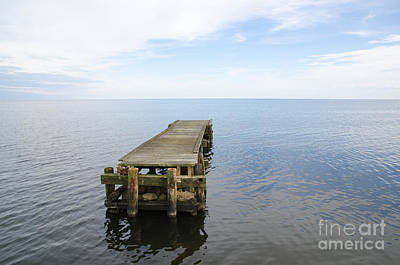 Deserted Jetty Art Print by Kennerth and Birgitta Kullman