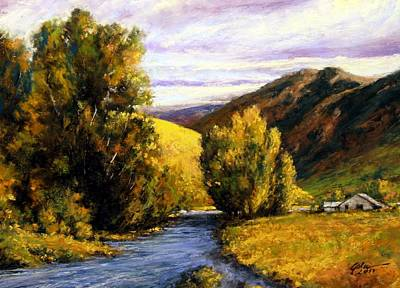 Mountain Scenery Wall Art - Painting - Deserted by Jim Gola