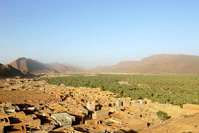 Moroccan Photograph - Deserted Oasis Village by Thierry Berrod, Mona Lisa Production