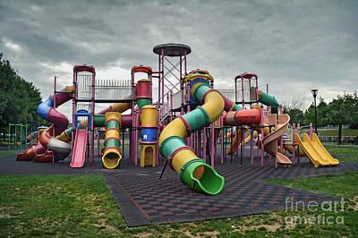 Soap Suds - Deserted Playground by Cristian M Vela