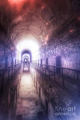 Deserted Prison Hallway Print by Jill Battaglia