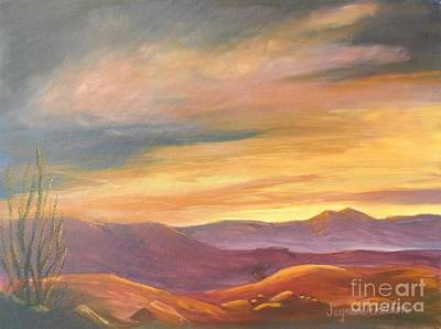 Desert Sunset Painting - Deserted Sunset by Jayne Schelden