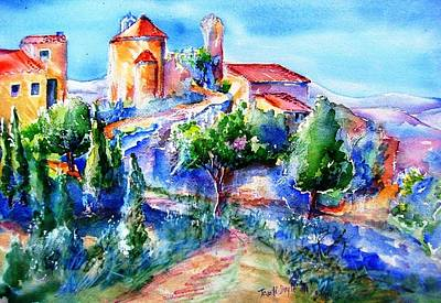 Deserted Village Of Perillos  Art Print by Trudi Doyle