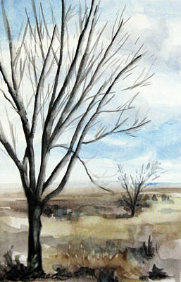 Painting - Desert's Composition by Erin Rickelton