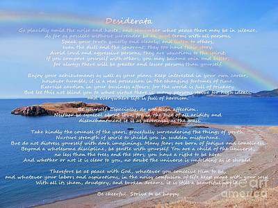 Desiderata  Art Print by Barbara Griffin