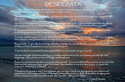 Photograph - Desiderata by HH Photography of Florida
