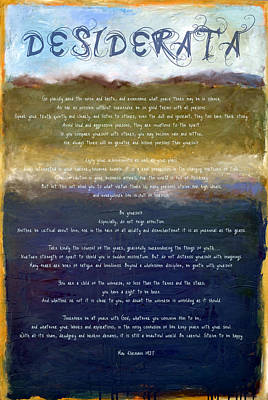 Desiderata Lll Art Print by Michelle Calkins