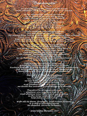 Photograph - Desiderata On Gold by Leena Pekkalainen