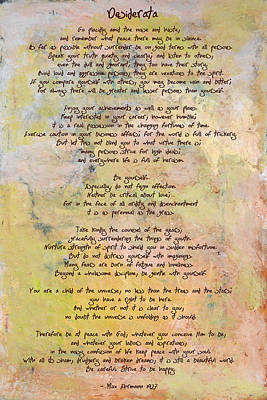 Painting - Desiderata - Promise Of Spring by Paulette B Wright