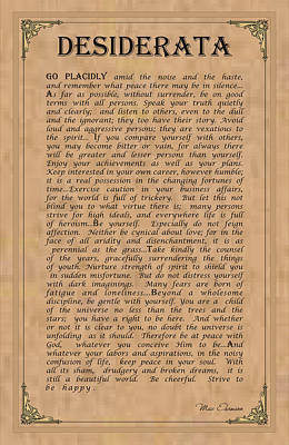 Digital Art - Desiderata by Ron Haist