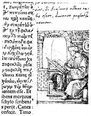 Desiderius Erasmus (1456?-1536) Art Print