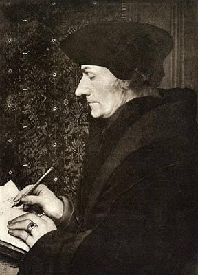 Gravure Photograph - Desiderius Erasmus by Underwood Archives