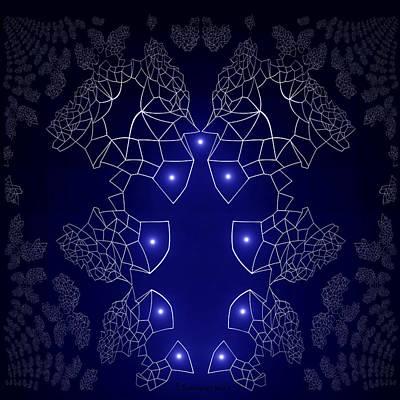 Digital Art - 755 - Design Blue  by Irmgard Schoendorf Welch