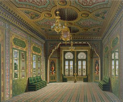 Glass Drawing - Design For A Reception Room by Karl Ludwig Wilhelm Zanth