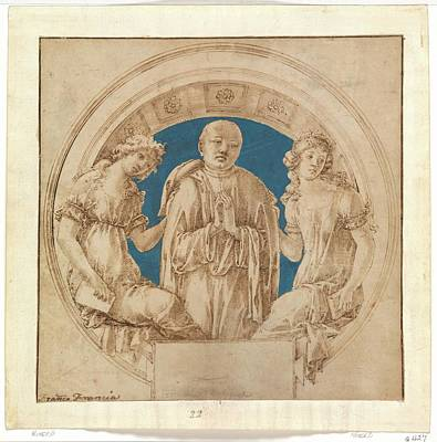 Martini Drawing - Design For A Wall Monument by Francesco di Giorgio Martini