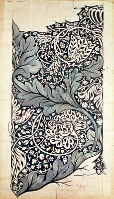 Pen And Paper Painting - Design For Avon Chintz by William Morris