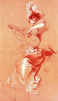 Design For Maîtres De Lposter. Chéret Art Print by Liszt Collection