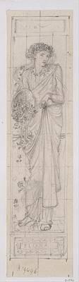 Design For The Figure Of Flora Art Print