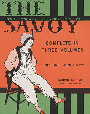 Design For The Front Cover Of 'the Savoy Complete In Three Volumes' Art Print by Aubrey Beardsley