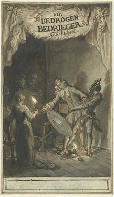 Design For The Title Page Of The Farce Of The Deceived Art Print