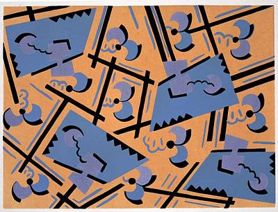 Design From Nouvelles Compositions Decoratives Art Print by Serge Gladky