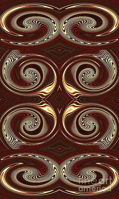 Design On Brown Art Print