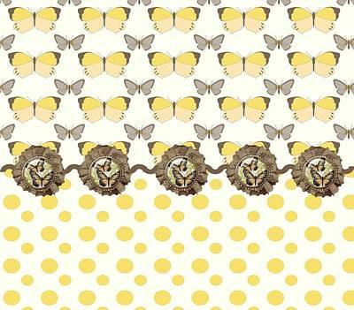 Designer Butterflies Art Print