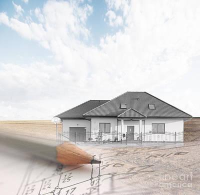 Pencil Photograph - Desingnin A House by Michal Bednarek