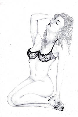 Drawing - Desire by Kenneth Clarke