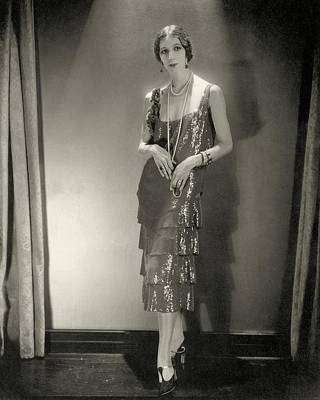 Desiree Lubowska Wearing A Chanel Dress Art Print by Edward Steichen