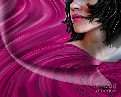 Girl Painting - Desirous  by Kathryn L Novak