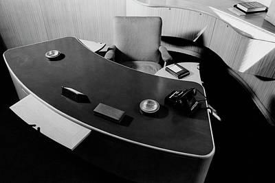 Desk By Industrial Designer Alexander Girard Print by Elmer L. Astleford
